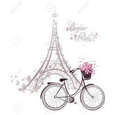 Яндекс.Картинки ❤ liked on Polyvore featuring backgrounds, paris, bicycle, detail and embellishment