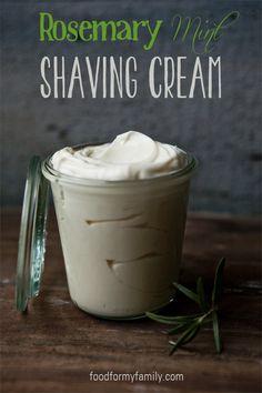 DIY - Rosemary Mint Shaving Cream
