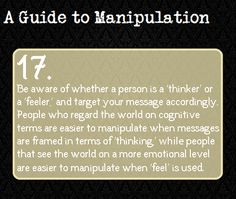 "Everytime i see these ""A Guide To Manipulation"" things i instanly starts thinking about some ""fictional characters"",and then i start thinking ""someday i'm gonna have to destroy these things before they see it"""