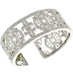 Judith Ripka 'Castle Diamond' Spring Wire Cuff | Judith Ripka Accessories from Bag Borrow or Steal™ Sooo beautiful and stylish!