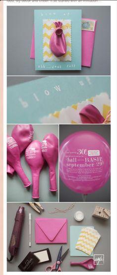balloon invitations