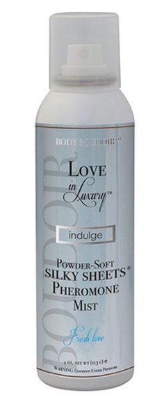 Indulge Powdery Soft Silky Sheets Mist with Pheromones - An enchanting scented powder sheet spray, made with a specially designed aerosol delivery system that disperses fragranced powder onto bedding to provide a luxurious silky-softness to sheets. Luxury Powder, Body Love, Body Spray, Spice Things Up, Mists, Vodka Bottle, Bath And Body, Blush, Perfume