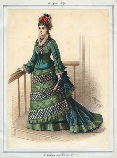 L'Elegance Parisienne August 1875 LAPL