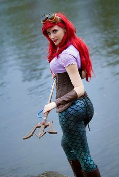 Steampunk Ariel, Disney's The Little Mermaid, by The Artful Dodger, photo by Volk Photography.  This little mermaid will kick your butt.
