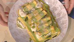 """La ricetta della lasagna gialla e verde di Sergio Barzetti del 28 marzo 2016, a """"La prova del cuoco"""""""