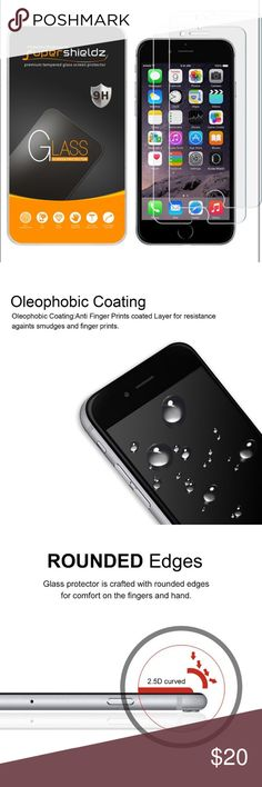 📱Electronics- iPhone 7 screen protector x2 Made from the Highest Quality Tempered-Glass with 100% Bubble-Free Adhesives for easy installation and no residue when removed 0.3mm 9H Hardness Anti-Scratch, Anti-Fingerprint, Bubble Free 99.99% HD Clarity and Maintains the Original Touch Experience Hydrophobic and Oleo-phobic coatings protect against sweat and oil residue from fingerprint. Protected by Supershieldz No-Hassle Lifetime Replacement Warranty apple Accessories Phone Cases