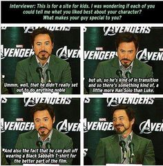 #TonyStarkSaturdays What Tony Stark loves about being Robert Downey Jr. pic.twitter.com/veJiymxtRj