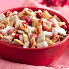 Valentine Chex® Mix - need to check to see if ingredients have peanuts or made in area with peanuts