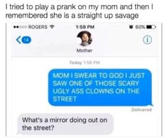 25 Troll-y Times Parents Went Straight Savage On Their Offspring - Memebase - Fu.,Funny, Funny Categories Fuunyy 25 Troll-y Times Parents Went Straight Savage On Their Offspring - Memebase - Funny Memes Source by Funny Text Pictures, Funny Picture Jokes, Super Funny Pictures, Super Funny Quotes, Funny Quotes For Teens, Animal Pictures, Puns Jokes, Funny Puns, Memes Humor