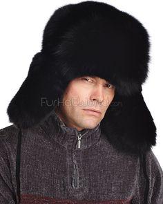 de08a657ff3f9 Black Fox Full Fur Russian Hat Russian Hat