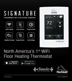 Pre-Order your Nuheat Signature Wi-Fi Thermostat Today!
