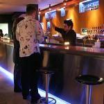 lightening at the bottom of a bar