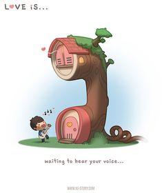 """""""L'amore è... aspettare di sentire la tua voce."""""""