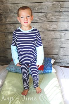 One Hour Pjs with Tutorial and free PDF pattern - Nap-time Creations