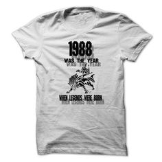 Legend 1988 T Shirts, Hoodies, Sweatshirts. GET ONE ==> https://www.sunfrog.com/LifeStyle/Legend-1988-999-Cool-Year-Shirt-.html?41382