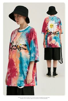 Streetwear Fashion, Streetwear Brands, Tie Dye Fashion, How To Tie Dye, Tie Dye Outfits, Tie Dye Shirts, Tie Dye Designs, Mens Tees, Hip Hop