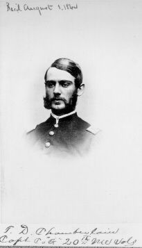 Thomas D. Chamberlain, the Brother of Joshua Lawrence Chamberlain.  This link is to a short biography on his life.  If you have the time it is well worth reading.