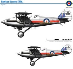 Hawker Demon Mk.I Civil Aviation, Great Britain, World War Ii, Vintage Cars, Aircraft, Planes, Drawings, Weapons Guns, Cold Steel