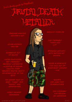Metal 101- The Death Metaller by LusoSkav.deviantart.com on @deviantART