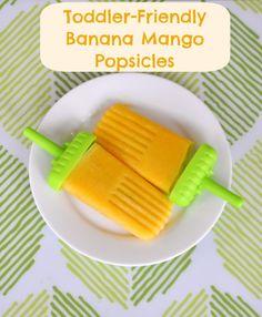 Banana Mango Popsicles