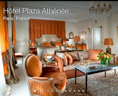 the Royal Suite at the Hotel Plaza Athénée in Paris, France Luxury Rooms, Luxurious Bedrooms, Luxury Hotels, Luxury Travel, Luxury Decor, Luxury Bedding, Paris France, Plaza Athenee Paris, Hotel Plaza