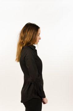 Cotton Stretch Poplin Women's - Black - BAAM Labs - 2