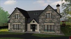 dorm093 Dormer House, Dormer Bungalow, Style At Home, Log Homes, United Kingdom, Building A House, House Plans, Irish, Exterior
