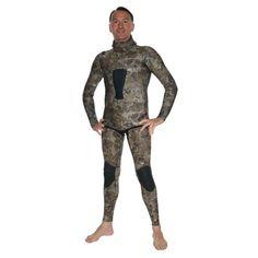 Muta umida da pesca mimetica - Wetsuit spearfishing camouflage 5 mm - PHANTOM