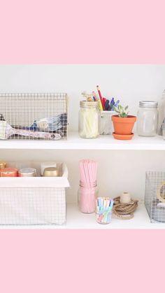 DIY Wire Crates - Such a cute storage idea!