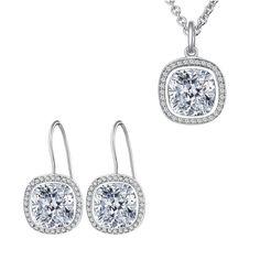 Set Nahla Jewels Eleganță de Mireasă (cercei, colier, pandantiv)