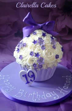 The Big Purple Giant Cupcake by Clairella Cakes