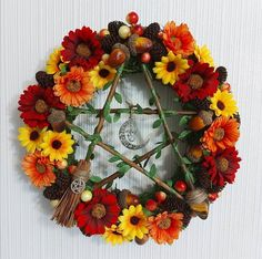 Pentacle, Floral Wreath, Wreaths, Fall, Home Decor, Autumn, Decoration Home, Door Wreaths, Room Decor