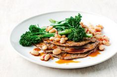 Minute steaks with broccolini & cannellini bean chilli sauté - body+soul
