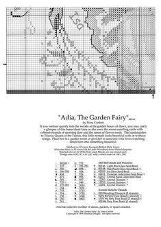 Adia, The Garden Fairy - 4/7 Solo Patrones Punto Cruz (pág. 288) | Aprender manualidades es facilisimo.com