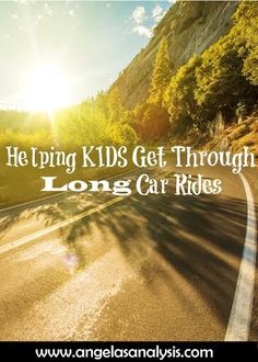 Specific ideas how to get children through long car rides. Ideas for snacks, games, and more!