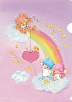 【2014.09.13-29】【Kiki&Lala x Care Bears CAFE】Clear Folder ★Little Twin Stars★
