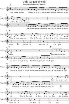 Vois Sur Ton Chemin-Les Choristes-Partition Voix Complete