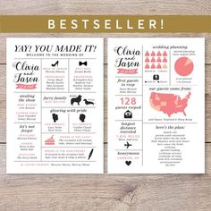 Planning A Successfull Wedding Without A Lot Of Stress – Fashion Trends Wedding Advice Cards, Printable Wedding Programs, Unique Wedding Programs, Wedding Timeline, Unique Weddings, Wedding Ideas, Wedding Invitations, Wedding Stationary, Wedding Stuff