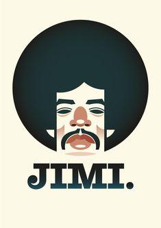 Stanley Chow Ilustración Jimi Hendrix