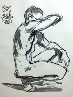 Figure Drawing, 3 min. pose