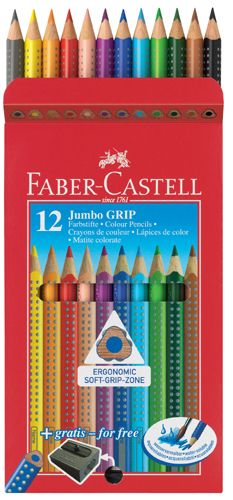 The Jumbo GRIP colour pencils by Faber-Castell are a must for any budding artist!  #TheBigDraw http://www.stonemarketing.com/faber-castell-playing-learning-jumbo-grip-colour-pencils-12
