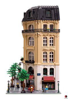 Lego Design, Minecraft Architecture, Minecraft Buildings, Architecture Design, Lego Village, Lego Super Mario, Best Lego Sets, Big Lego, Lego Ship