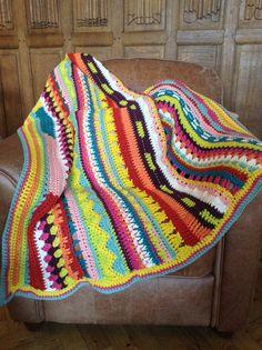 couverture tricot ,crochet