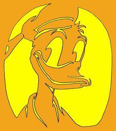 Donald Duck pumpkin stencil