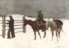 Frederic S. Remington (1861–1909) |   The Fall of the Cowboy 1895