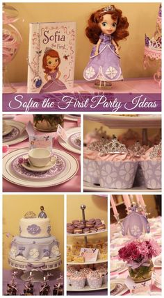 sophia the first tea party | Great Sofia the First girl birthday party ideas! See more party ideas ...