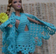 Свяжем шаль для Барби. Associate shawl for Barbie.