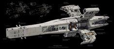 "retrosci-fi: "" ""U. Space Navy Haruna Class Planetary Assault Platform by Prog Wang"" ~Imaginary Technology "" Spaceship Art, Spaceship Design, Arte Sci Fi, Sci Fi Art, Stargate, Starship Concept, Sci Fi Spaceships, Space Engineers, Sci Fi Ships"