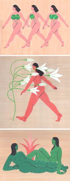 Illustrated women by Rachel Jo // gouache painting // painted ladies