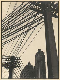 Wires Johan Hagemeyer  (American, born Netherlands, 1884–1962) Date: 1928 Medium: Gelatin silver print